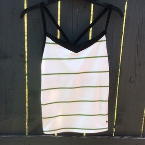 🌸Under Armour White Fitted Tank Size L